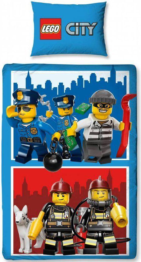 Lego City Heroes - Dekbedovertrek - Eenpersoons - 140 x 200 cm - Multi
