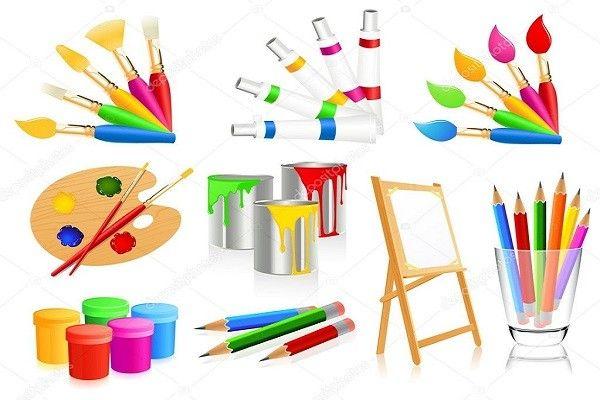 أدوات الرسم In 2021 Free Vector Art Painting Illustration