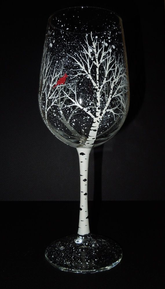 Hand Painted Wine Glasses Colorado