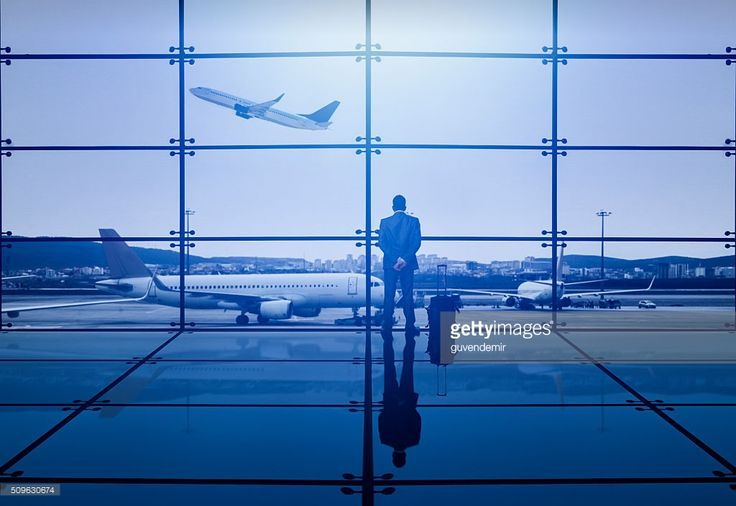 Stock Photo : Businessman Waiting Departure