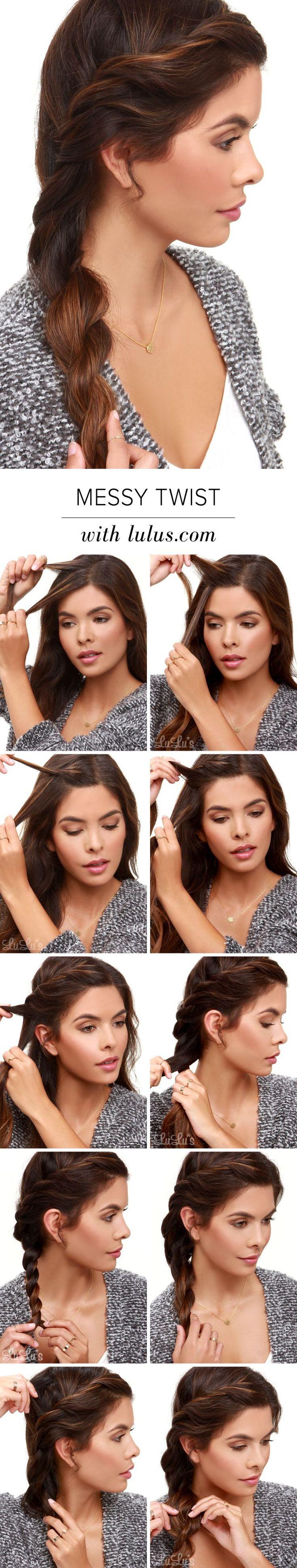 Lulus Howto: Messy Twist Hair Tutorial