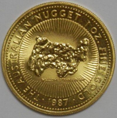 ONZA NUGGET 1987 Oro puro 999.9/1000 Peso 31,1035gr