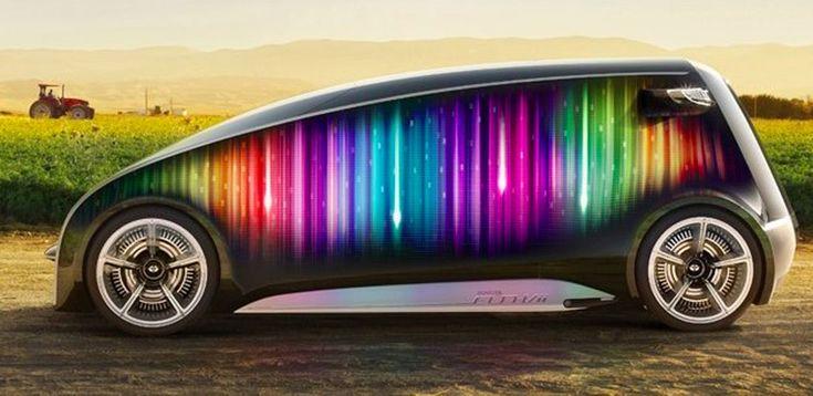 INSOLITE : la voiture du futur par #Toyota !  Un véhicule RÉVOLUTIONNAIRE totalement personnalisable de la carrosserie jusqu'à l'intérieur, un GPS sous forme d'hologramme, réglages à distance avec son #smartphone, etc Découvrez le #conceptcar de @Toyota USA prénommé #FunVii