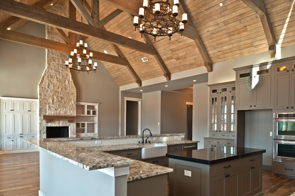 Kitchen and beams for the home pinterest for Large family kitchen