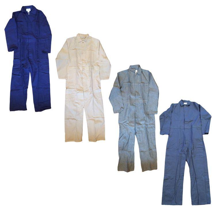 Coveralls 100% Cotton Men's Button - Closure Work Uniform - Many COLORS  #AmericanUniform