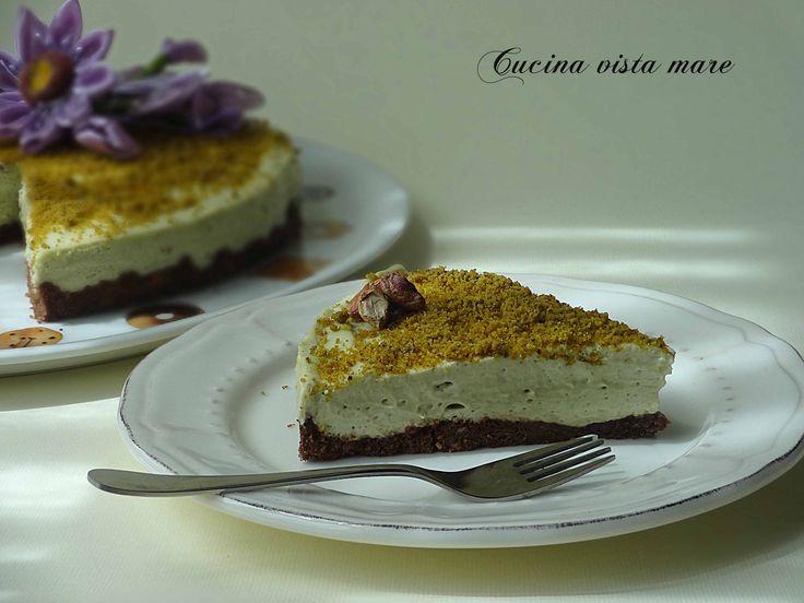 Cheesecake al pistacchio Cucina vista mare