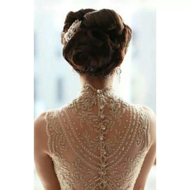 espalda de encaje muy elegante