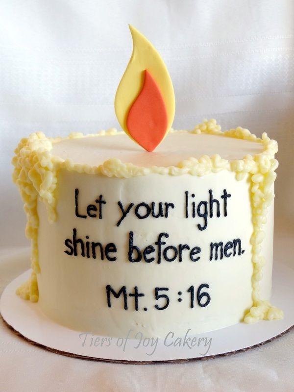 Candle cake.