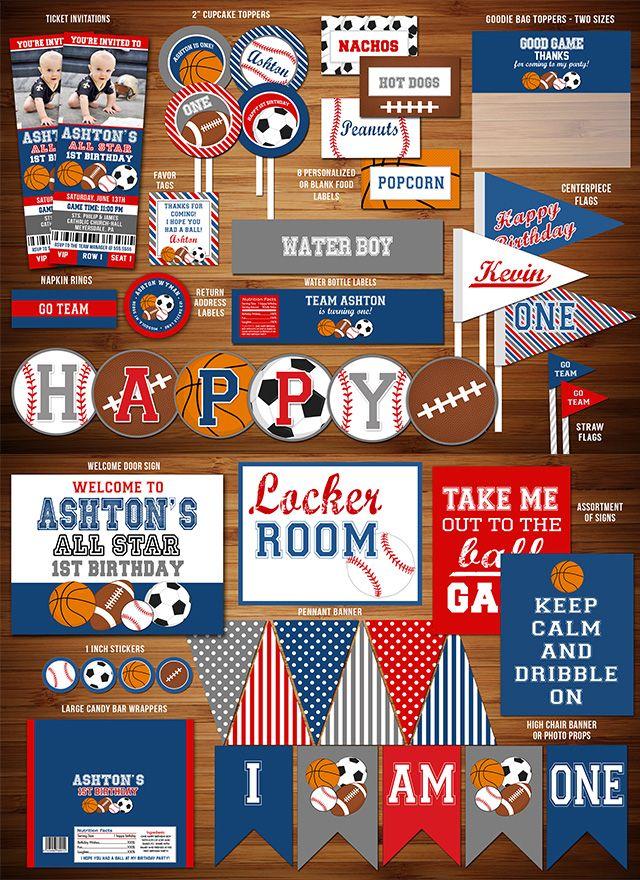 42 best sports parties images on pinterest