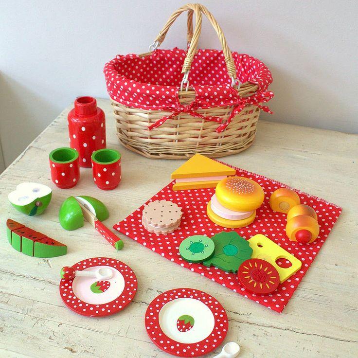 Wooden Picnic Basket Set : Best images about teddybearpicnic on first
