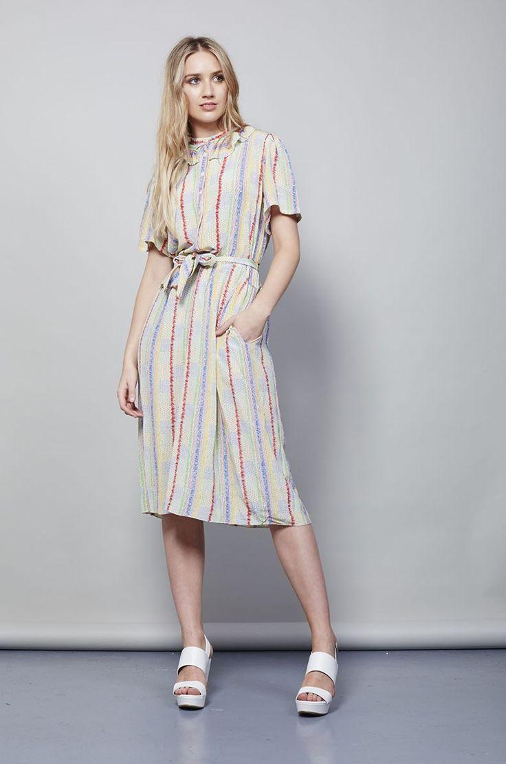 VINTAGE 1970'S ZANDRA RHODES SILK DRESS