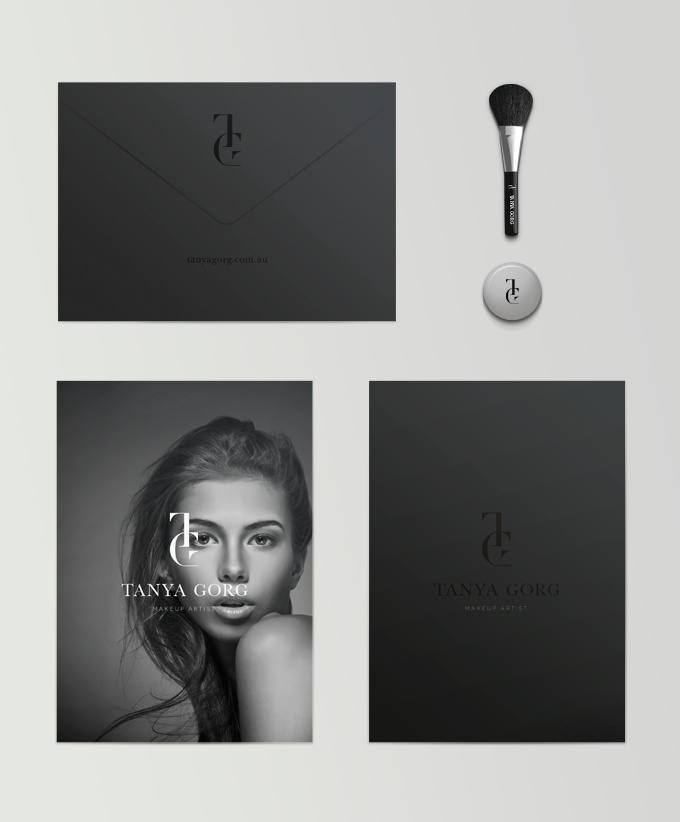 makeup artist resume%0A Tanay Gorg stationary design  love the matte black with the word mark being  a patent    Makeup Artist