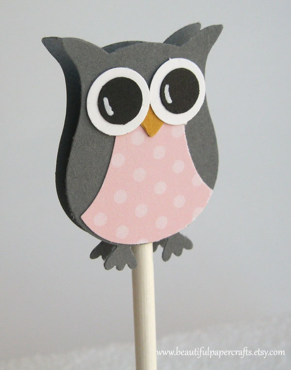 Owl Cupcake Toppers - Stampin' Up! Owl Builder Punch