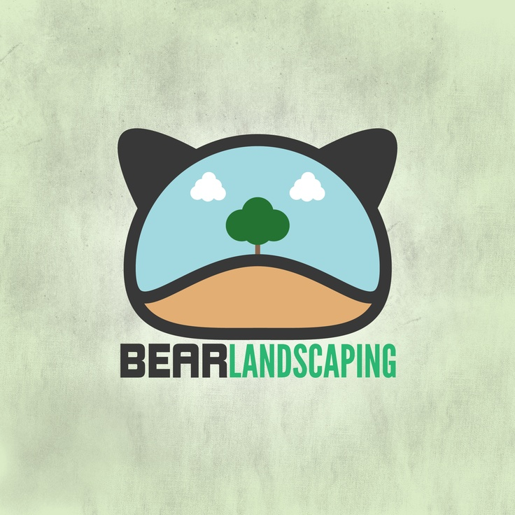 Bear Landscaping Logo - David Archbold  #graphicdesign #design #art #digital #aminated