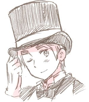 APH England in a Victorian top hat. Think this is official art... << Yes it is http://himaruya.blog61.fc2.com/blog-entry-1209.html