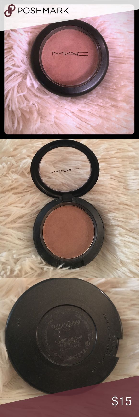Mac Bronzer Equilibrium Satin Used a few times but too dark for me.Is almost full, lots of uses left. Color is called equilibrium satin. MAC Cosmetics Makeup Bronzer