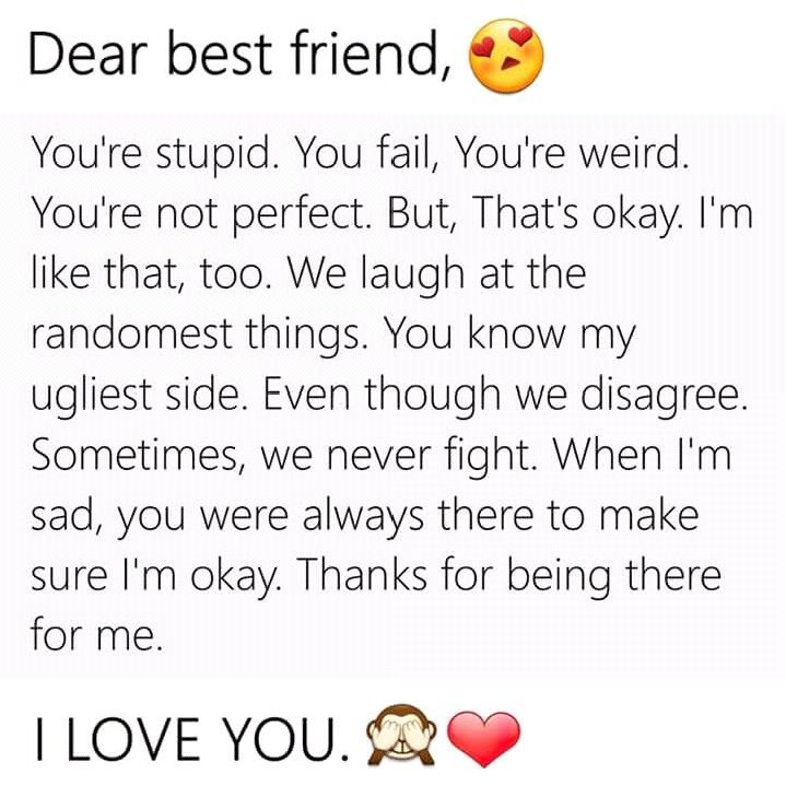 Best Friend Letters That Make You Cry.Pin By Zehra Rizvi On Islamic Bff Quotes Friend Quotes
