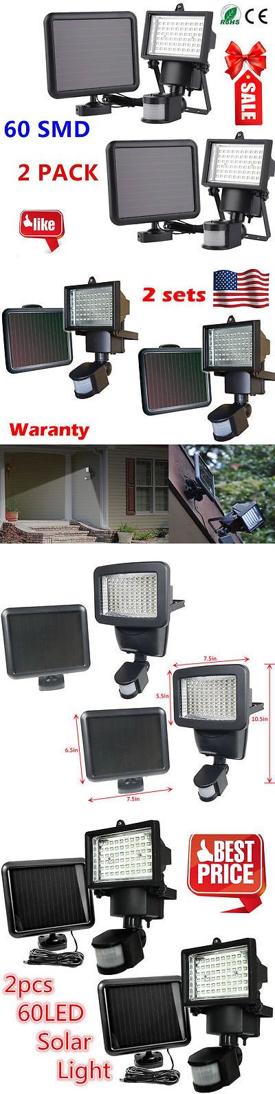 farm and garden: 2Pack 60 Smd Led Solar Powered Motion Sensor Security Light Flood Light Lamp To BUY IT NOW ONLY: $32.25