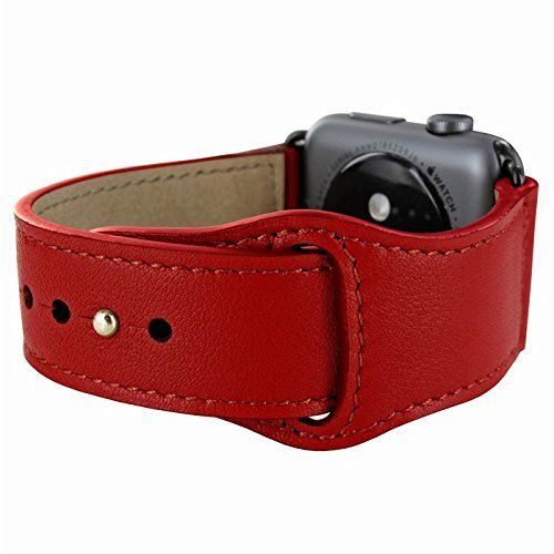 Piel Frama Armband Case for Apple Watch 42 mm - Red. Fits wrists between 15-20cm in diameter. Introducing the Piel Frama Apple Watch leather wrist strap. This beautiful high quality leather strap will add style and elegance to your new Apple Watch.