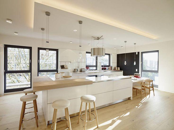 Moderne häuser innen küche  Die besten 25+ Holzküche Ideen auf Pinterest | Holzküche, Modernes ...