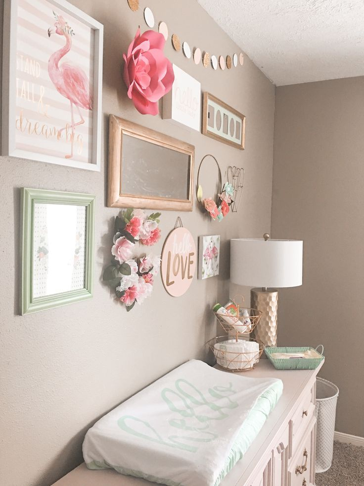 Goldie S Floral And Flamingo Nursery Her Happy Home Girl Nursery Diy Baby Girl Nursery Diy Nursery Decor Girl
