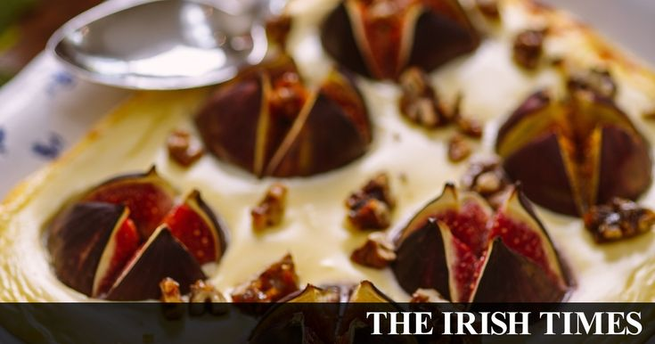 Ardsallagh goat's cheese and fig bake with caramelised walnuts