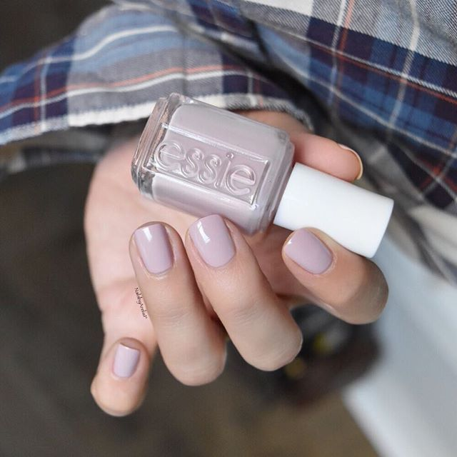 Essie Fall 2016 Collection One of my favorites  is GO GO GEISHA  a beautifi antique blossom pink. It's a mix between a nude and pink, which make it pure perfection for the work place. I loveeee it! 2 coats, topped with @essiepolish Good To Go. #essielove #essiefall2016 #fall2016 #gogogeisha #plaid #nails #nailartsept #rebeccaminkoff #pink