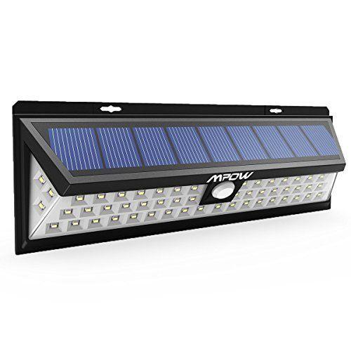 54 LED. Plus lumineux que d'autres lampes solaires LED similaires sur le marché. IP65 étanche. Fait de matériaux ABS durable, vous ne devez pas vous soucier de la pluie. Il peut également résister à toutes sortes de conditions météorologiques sévères. Capteur d'angle 120° et Capteur de distance 10 à 26 pieds jusqu'à 120 °. Plus … … <a…
