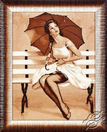 Girl On a Bench - Cross Stitch Kits by Alisena - 1068