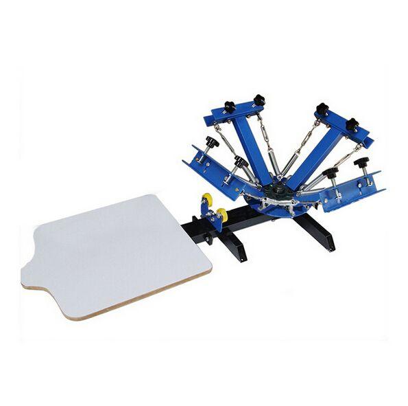 Express FREE shipp 4 color 1 station silk screen printing machine t-shirt printer press equipment carousel printing area 40*50CM