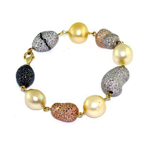 18kt Gold 10.14cts Pave Diamond Charm Beaded Bracelet Silver Fashion Jewelry Socheec. $6309.00. 18Kt Solid Charm Beaded Bracelet. 10.14cts Diamond Pave Charm Beaded Bracelet