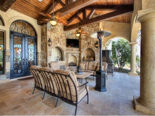 $3.9 Million Mansion Masterpiece in Texas 12 beautiful patio Tuscan