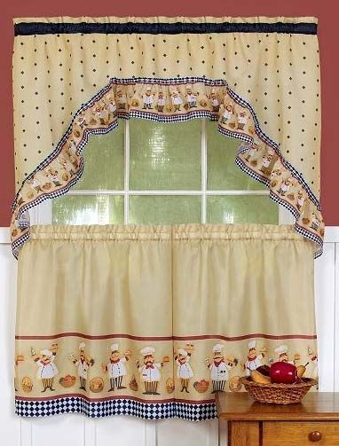 kitchen curtains fruit design. Cucuina Curtains features friendly chefs with baskets of fruit  bread decorate this playful Tier 25 best Complete Kitchen Sets images on Pinterest sets