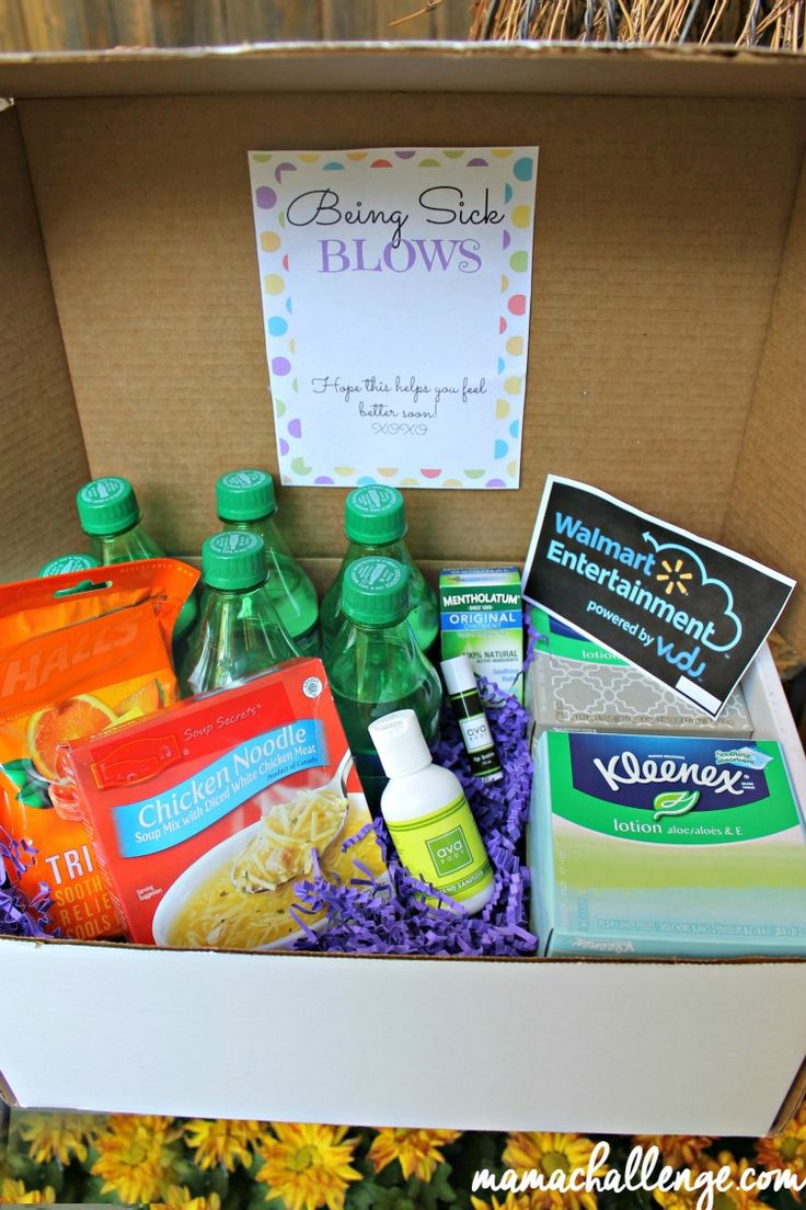 This Feel Better Get Well Care Package Kit From Mamachallenge Com Makes It Not Seem So Bad When You Get Well Gift Baskets Get Well Baskets Healthy Care Package