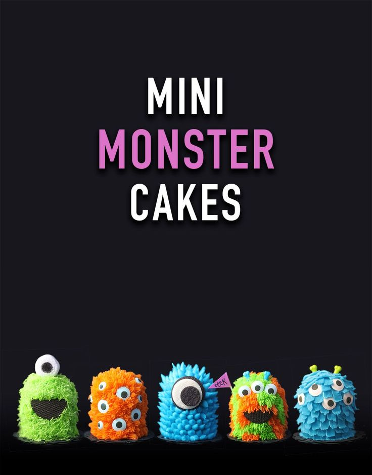 Try these great mini Monster cakes with your kids and watch Monsters ink!