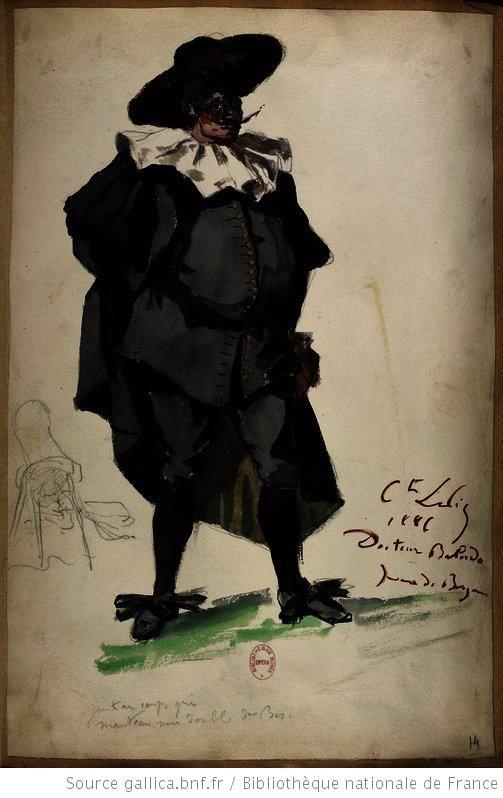 Docteur Balardo.   [Les jumeaux de Bergame : vingt maquettes de costumes / par le comte Lepic] Auteur : Lepic, Ludovic Napoléon (1839-1889). Dessinateur Date d'édition : 1885-1886