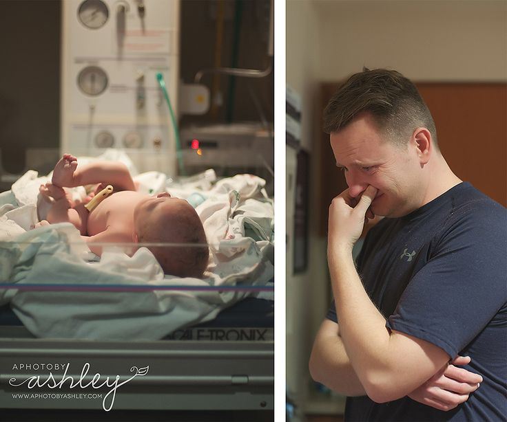 Such a beautiful moment with father and baby.  Birth Story Photography  Photo Credit: A Photo by Ashley - Ashley Turner