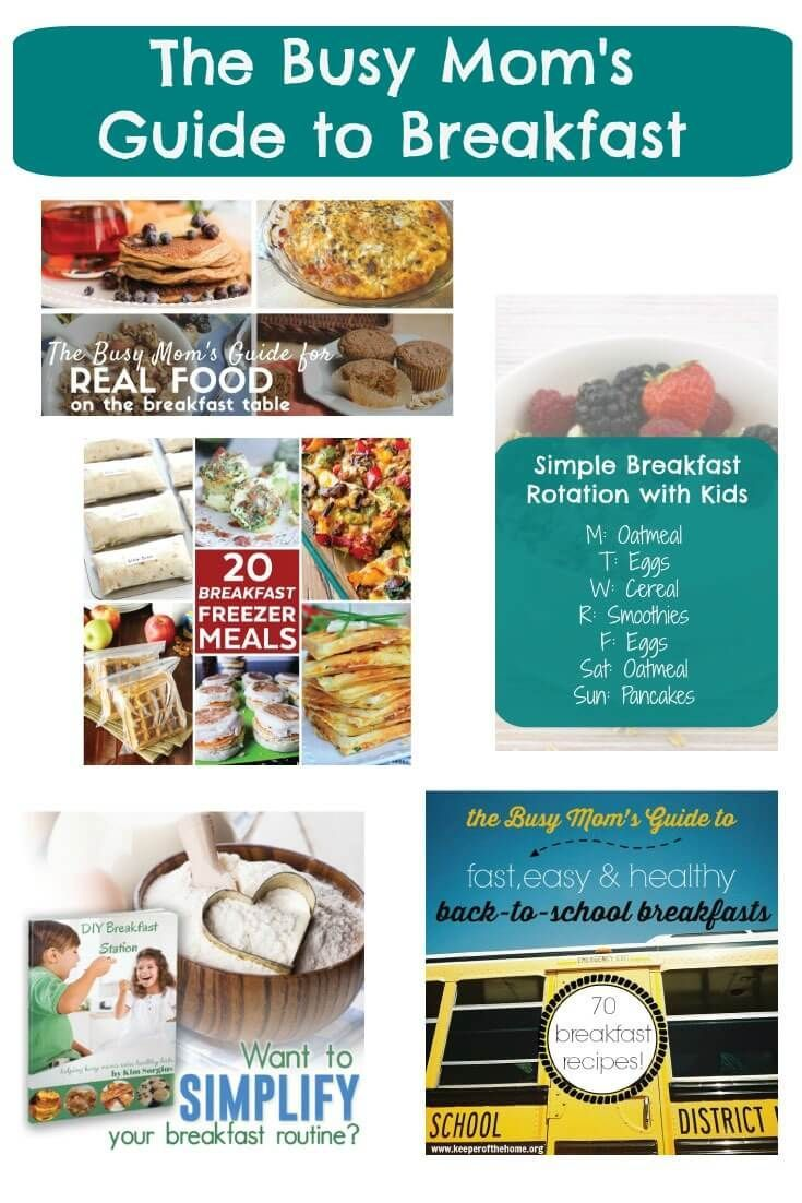 The Busy Mom's Guide to Breakfast. 5 Resources to Make It Easier.