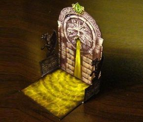 Fountain And Crypt Walls Papercrafts For RPG Games And Dioramas by Eddnic == Eddnic, designer of all models from Mini Paper Models website, shares with all of us these nice models for RPG, Wargames and Dioramas: a Medieval Fountain and some Crypt walls.