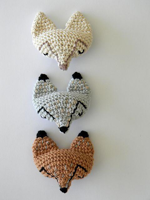 crochet foxes