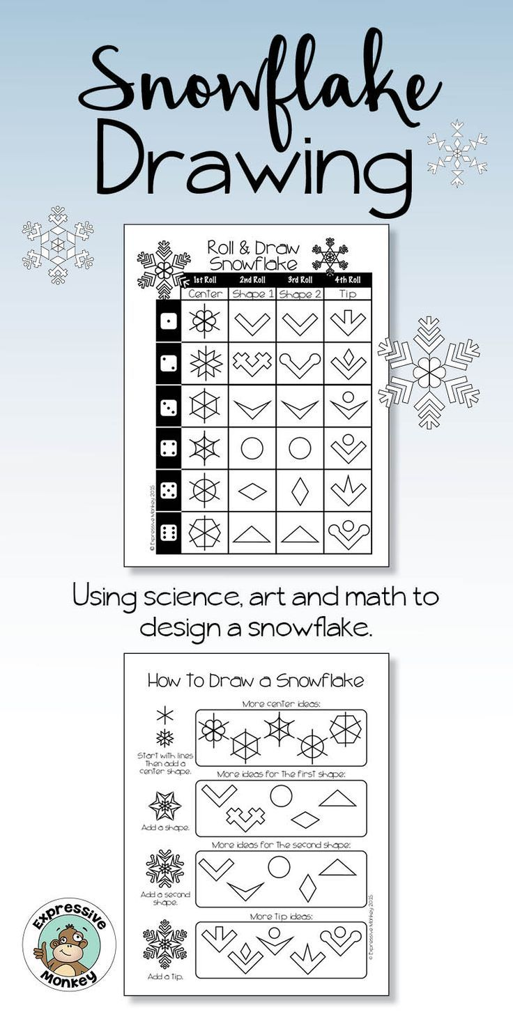 Have you ever wondered WHY no two snowflakes are alike?  Learn the science behind snowflakes, then use some math and art to make your own unique snowflake design.