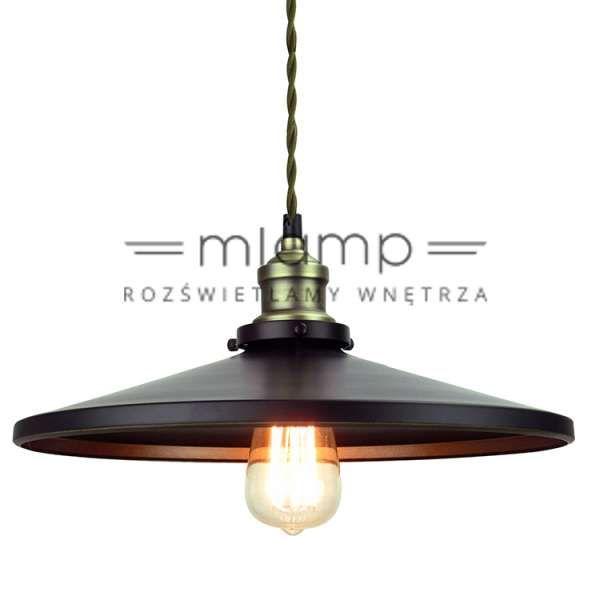 LAMPA wisząca RENZA 350003 Italux industrialna OPRAWA zwis metalowy loft IP20 czarny