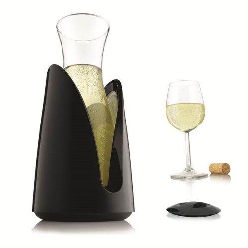 Vacuvin Rapid Ice Wijn Karaf Koeler - Zwart