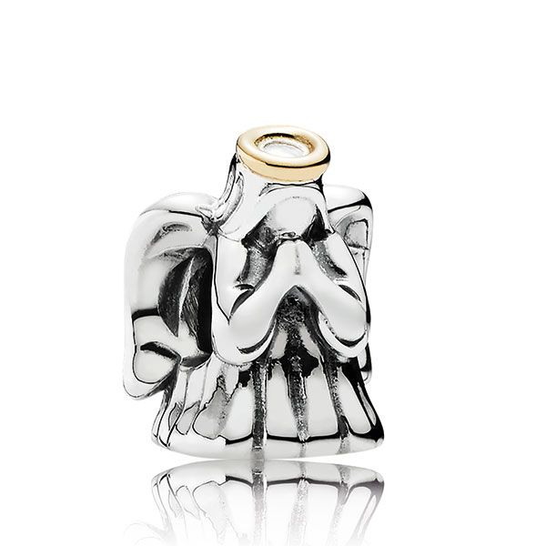 PANDORA Divine Angel Charm, Silver & 14K - 11435468.jpg