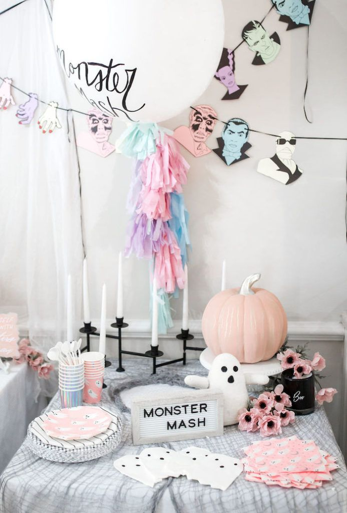 Monster Mash Halloween Party Kara S Party Ideas Halloween First Birthday Halloween 1st Birthdays Halloween Themed Birthday Party
