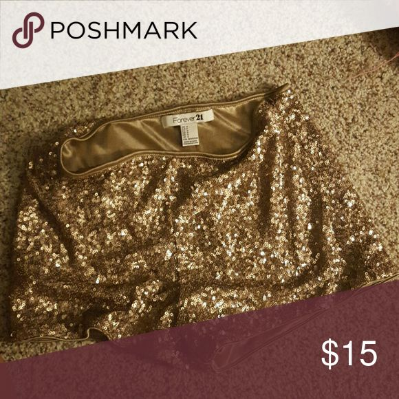 Gold shorts sparkle gold shorts, perfect for a holiday Forever 21 Shorts