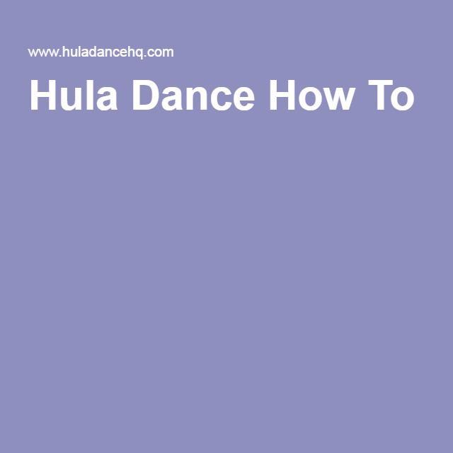 Hula Dance How To