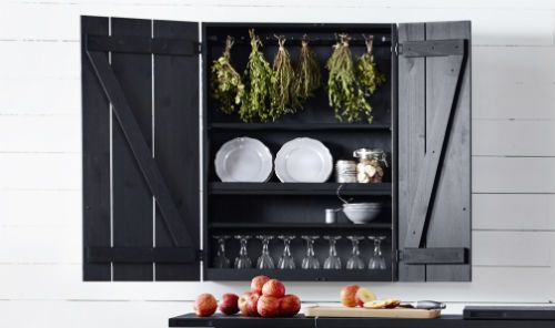 IKEA Fan Favorite: OLOFSTORP wall cabinet. Don't be fooled by the rustic look, the OLOFSTORP wall cabinet comes with loads of clever features like adjustable shelves and plenty of space for your favorite ingredients.