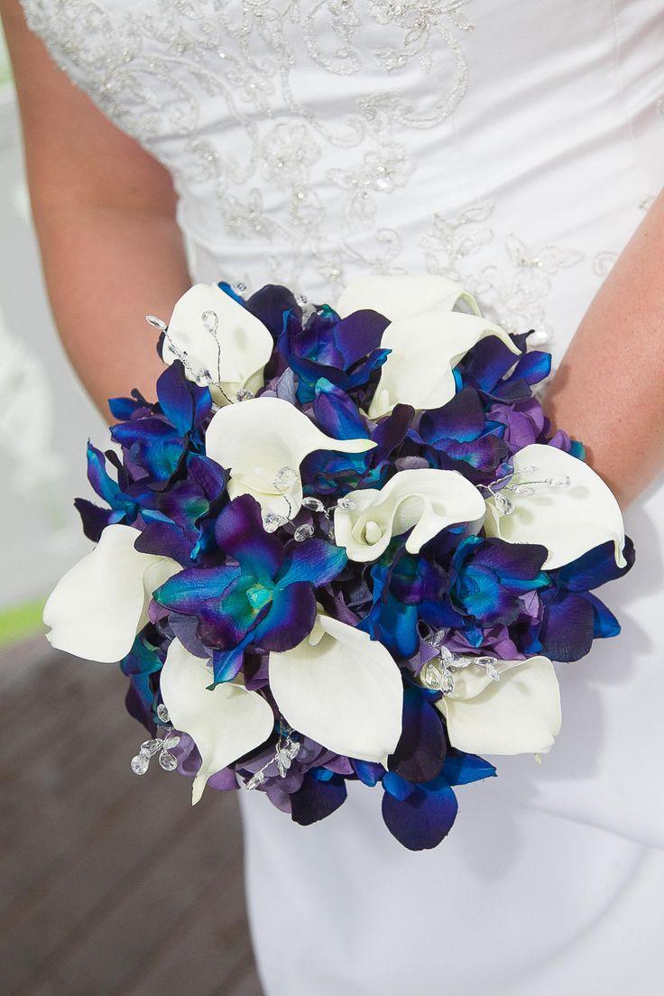 Megan's Bridal Bouquet Blue Violet CA Dendrobuim Orchids ...