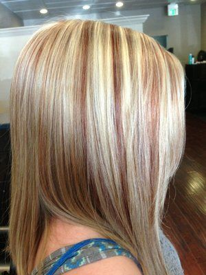 Highlights And Copper Lowlights Hair Amp Makeup